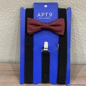 Brand New Apt. 9 Bow Tie & Suspender Set